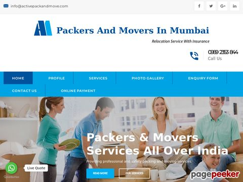Screeshot of Movers Packers In Mumbai