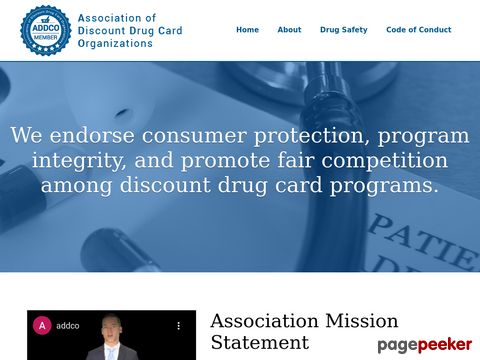 Screeshot of Discount Drug Card Association Benefits, Standards, Marketing Guidelines, Prescription and RX Card O