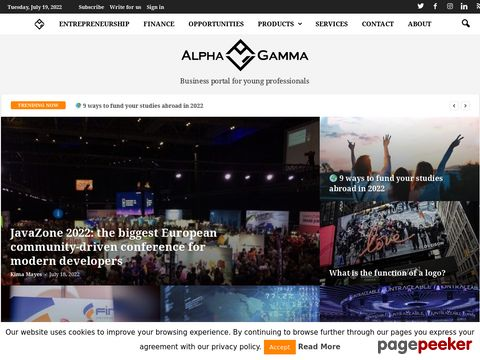 Screeshot of AlphaGamma