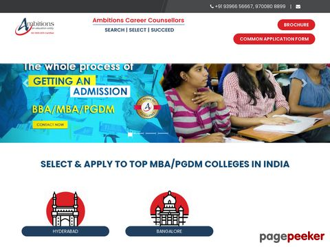 Screeshot of Top Business Schools in Hyderabad