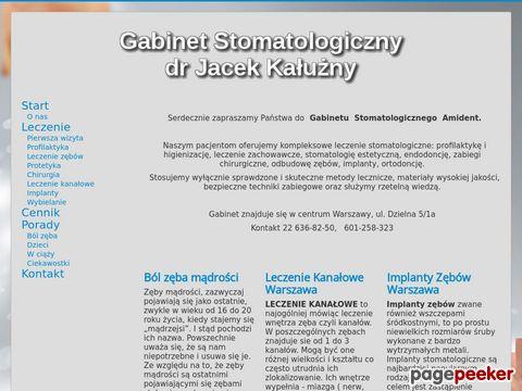 Stomatolog Warszawa - leczenie kanałowe, wybielanie zębów