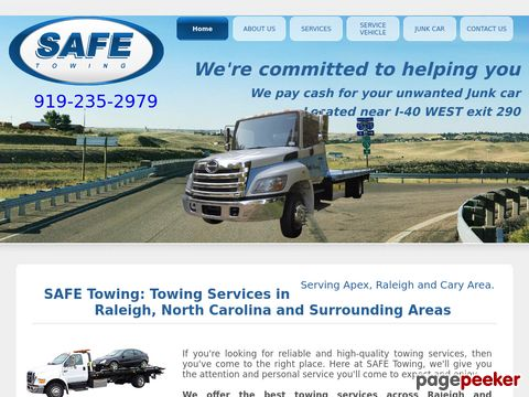 Screeshot of Cary Towing and Recovery Service