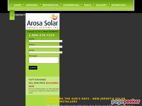 Screeshot of Solar Installers | Panels New Jersey | Residential Solar Systems NJ