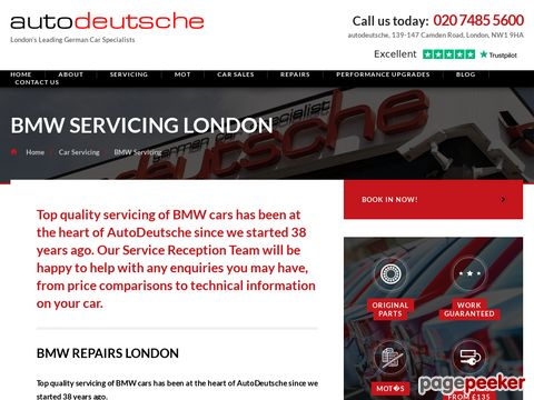Screeshot of Bmw Servicing London