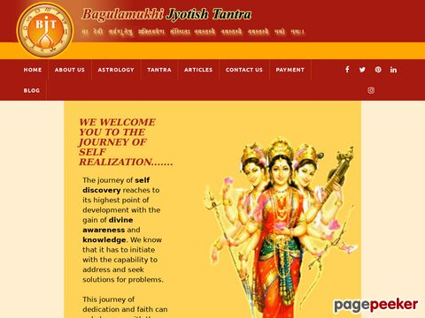 Screeshot of Contact Bagulamukhi Jyotis Tantra for the best results