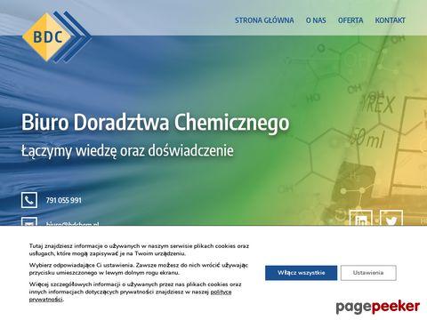 Więcej o stronie : Biuro Doradztwa Chemicznego