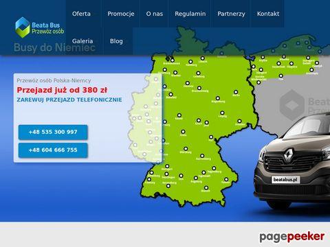 Więcej o stronie : Usługi przewozowe do Niemiec - Beata Bus