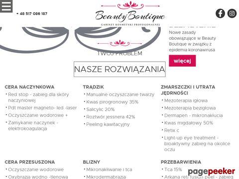 Salon kosmetyczny Beauty Boutique