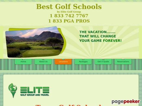 Screeshot of luxury golf schools in Texas