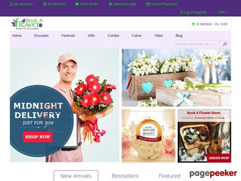 Screeshot of Send Friendship Day Flowers and Gifts All over India | Online Free Delivery