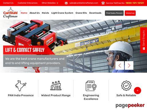 Screeshot of Material Handling Equipment - carlstahlcraftsman.com
