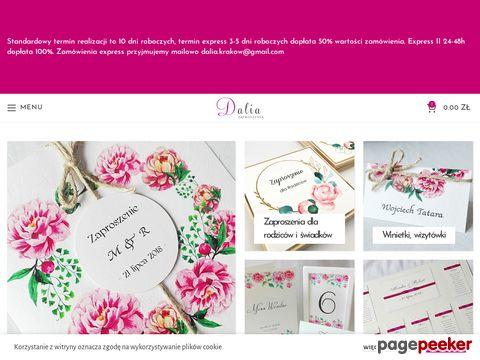 Więcej o stronie : Zaproszenia ślubne Dalia