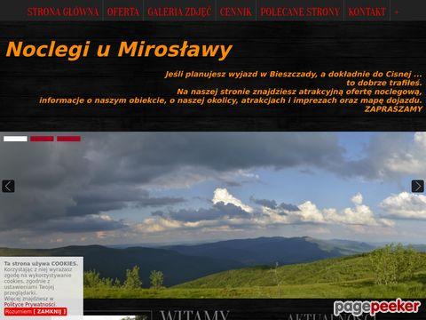 Cisna - noclegi u Mirosławy