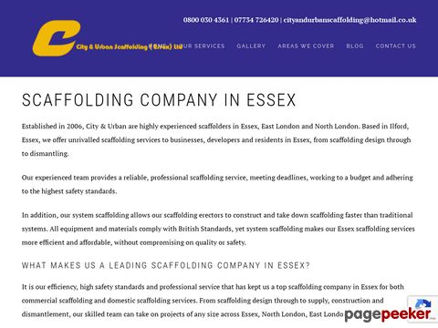 Screeshot of Scaffolding North London