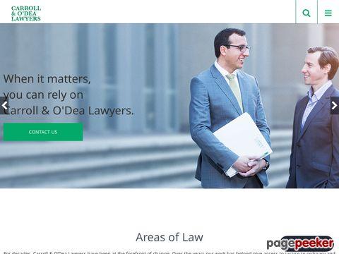 Carroll & O'Dea Lawyers Website