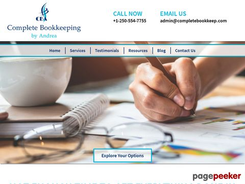 Screeshot of Affordable Bookkeeping in Fort St. John