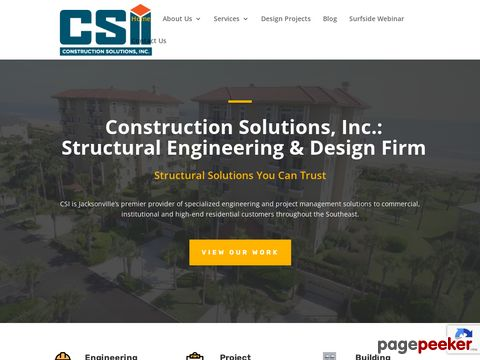 Screeshot of construction services ponte vedra