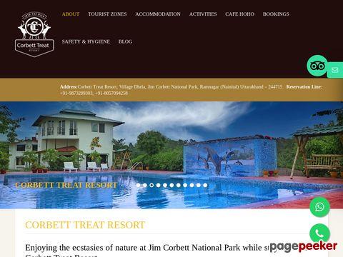 Screeshot of Corbett Treat Resort Jeep safari | elephant safari | durgadevi | dhikala | the safaris | bijrani | s
