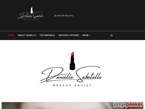 Screeshot of Danielle Sabatello Makeup Artist