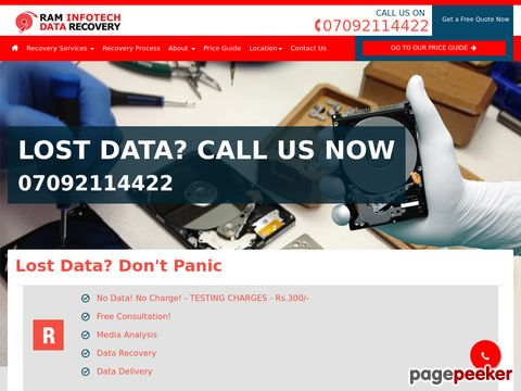 Screeshot of Data recovery chennai