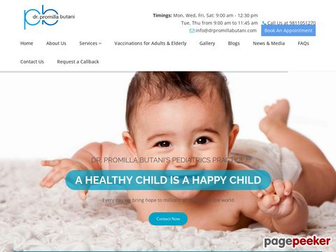 Screeshot of Best Pediatrician Clinic Centre in South Delhi