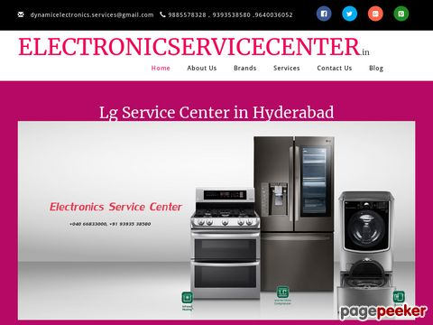 Screeshot of LG Service Center in Hyderabad | LG Service Center in Hyderabad