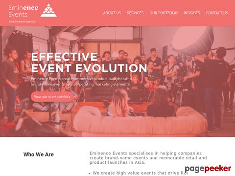 Screeshot of Event Management Company in Singapore