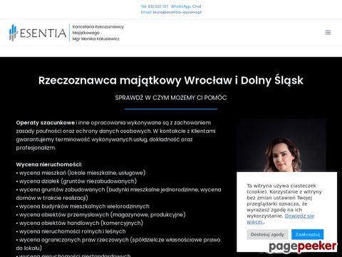 Wycena nieruchomości Wrocław - ESENTIA