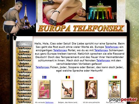 Détails : Europa Telefonsex - Europas geilste Telefonsex Weiber