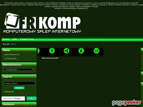 Komputerowy sklep internetowy FRIKOMP