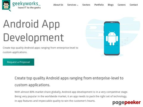 Screeshot of Android App development Company in Pune