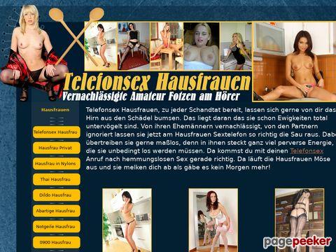 Telefonsex Hausfrauen - Bestseller der Amateurfotzen