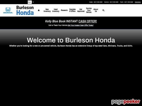 Screeshot of Honda Car for Sale | Honda of Burleson, Tx