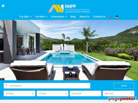 Screeshot of Hua Hin Property Partner - Property Sales & Rentals