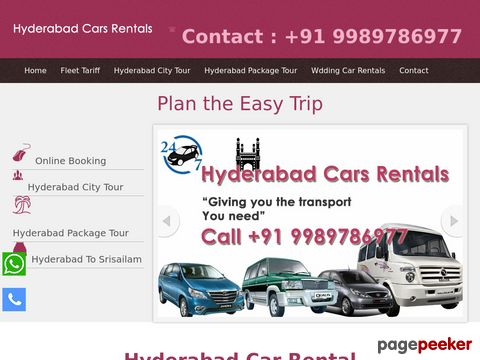 Screeshot of car Rental Company - Hyderabad car Rentals