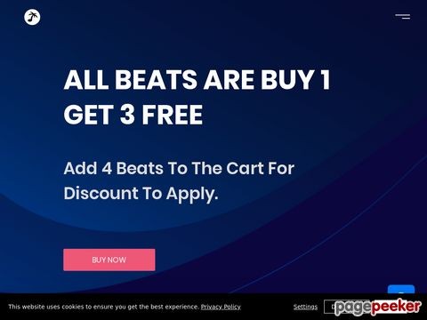Screeshot of Beats For Sale | Buy Beats Online | Instrumental Beats