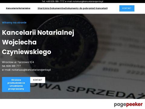 A. CZYNIEWSKA, W. CZYNIEWSKI Wrocław notariusz