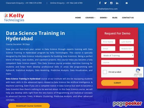Screeshot of Data Science Training institues in Hyderabad