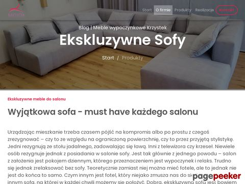 Krzystek.com.pl - Sofy ekskluzywne