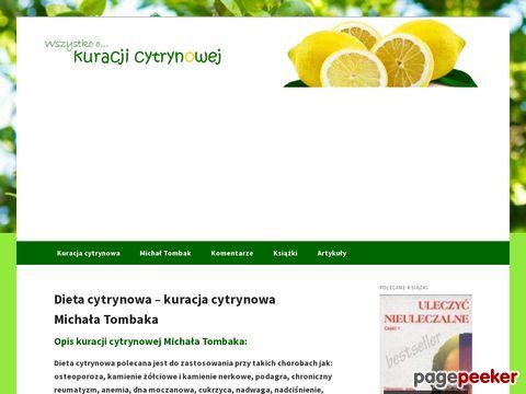 Dieta cytrynowa Michała Tombaka