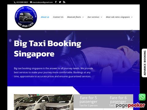 Screeshot of Maxicab Singapore