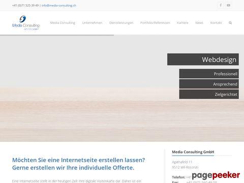 Screeshot of Internetseite erstellen - Media Consulting GmbH