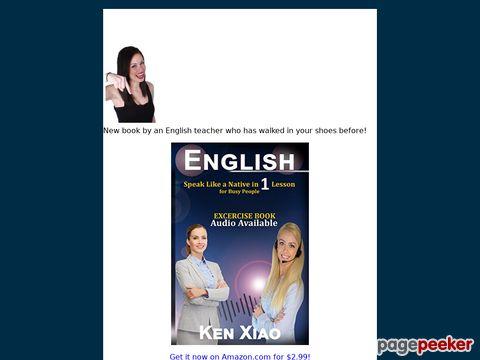 Screeshot of Myfluentenglish, model the success to speak like a native