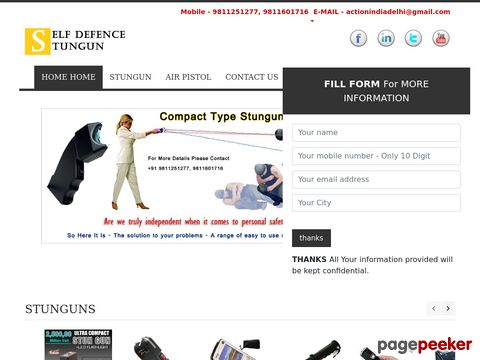 Screeshot of Stun Gun in Delhi India