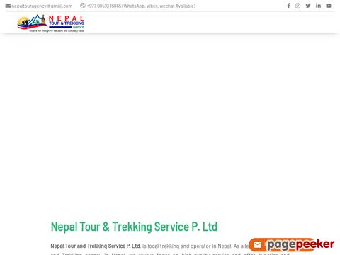 Screeshot of Nepal tour package