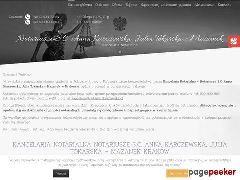 ANNA KARCZEWSKA notariusze Kraków