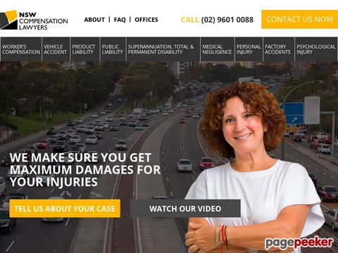 NSW Compensation Lawyers Website