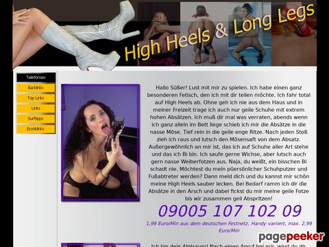 Details : Nylon Telefonsex - High Heels & Long Legs