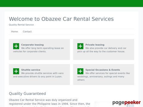 Screeshot of Obazee Rent A Car I Quality Rental Service