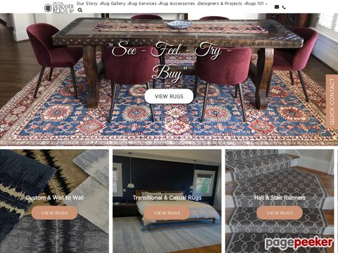 Screeshot of Area rugs and contemporary rugs | Oriental Designer Rugs